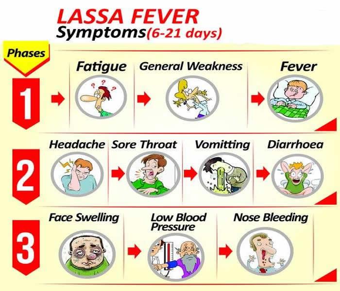 Clinical manifestationsof Lassa Virus
