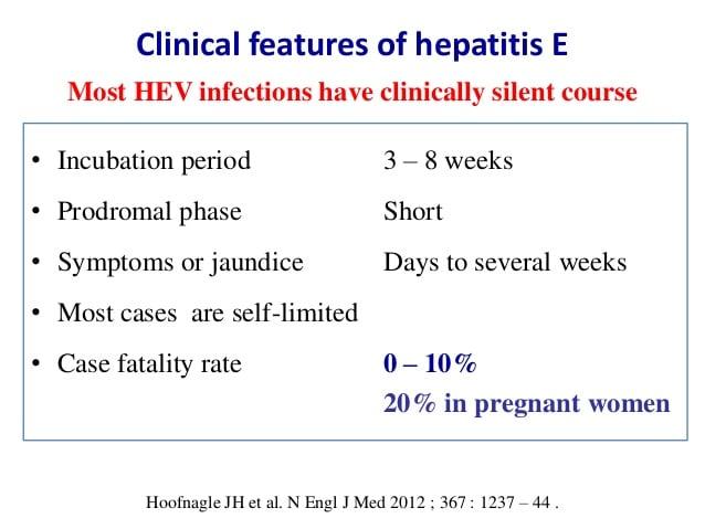 Clinical Manifestations ofHepatitis E Virus