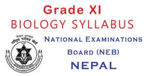 NEB Class 11 Biology (Botany + Zoology) Syllabus