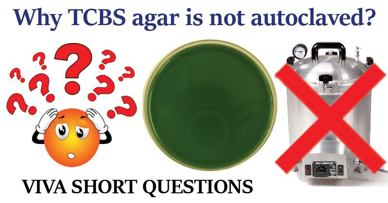 Why TCBS agar is not autoclaved