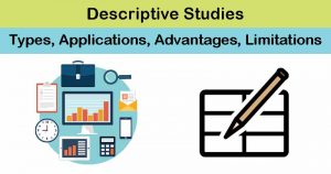 Descriptive Studies- Types, Applications, Advantages, Limitations