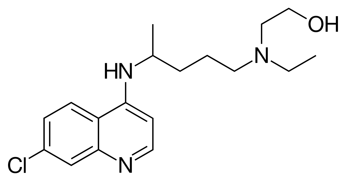 Structural diagram of hydroxychloroquine