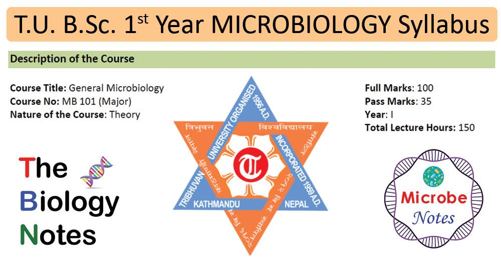 T.U. B.Sc. 1st Year General Microbiology Syllabus (Nepal)