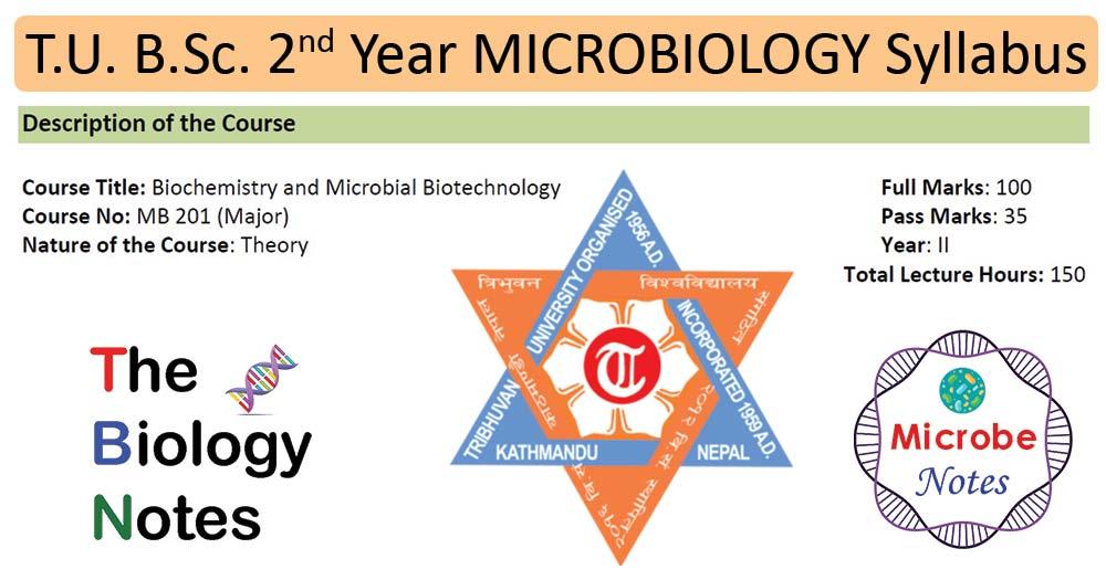 T.U. B.Sc. 2nd Year Microbiology (Biochem, Biotech) Syllabus