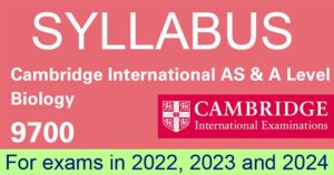 Cambridge International AS & A Level Biology Syllabus 2022-24
