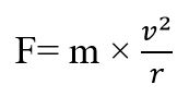 Centrifugal force formula
