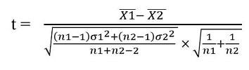 T-test formula 2