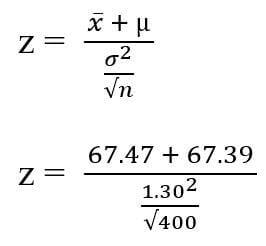 test statistic z