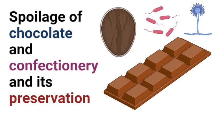 Spoilage of chocolate and confectionery and its preservation